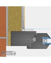 Lišta okenný začisťovací profil APU so sieťkou 2,4 m (LS-VH)