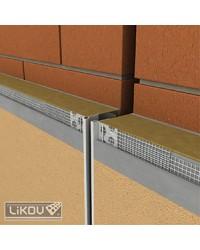 Dilatačný profil priebežný s priznanou hranou 2 m (LD TOP - priebežná)
