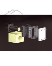 Krabica elektroinštalačná s vekom a tubusom pre zateplenie KUZ-VI
