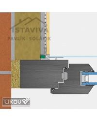 Lišta okenný začisťovací profil 3D 2,6 m (LS3-26)