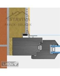 Lišta okenný začisťovací profil 3D 2,4 m (LS3-29 plus)