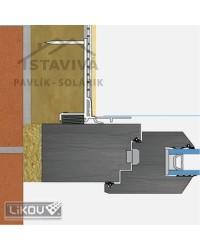Lišta okenný roletový začisťovací profil 3D 2,4 m (LS3-36-plus)