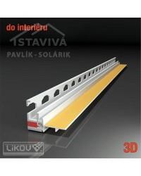 Lišta okenný začisťovací profil 3D 2,6 m (PS3-62)