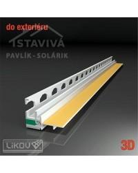 Lišta okenný začisťovací profil 3D 2,6 m (PS3-72)