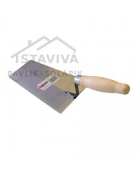 Lyžica murárska oceľová brúsená 180x130 mm