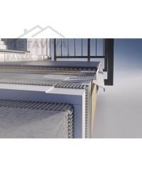 Balkónový profil DRIP PLUS 20 mm 2,5 m