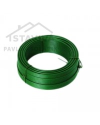 Drôt napínací zelený PVC