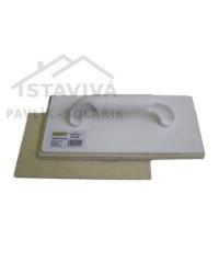 Hladidlo plastové plsť biela 230 x 140 mm