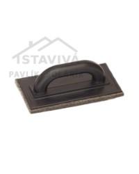 Hladidlo plastové plsť hnedá Profi 250x130x10 mm