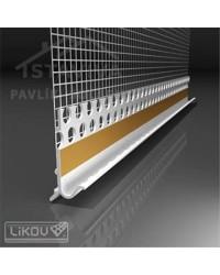 Lišta pre soklový profil s odkvapom a sklotextilnou mriežkou LE-G 2,5 m