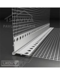 Lišta s mriežkou PVC s priznanou hranou 2,5 m (LK-VH)