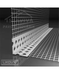 Lišta s mriežkou PVC - vnútornou 2,5 m VERTEX (LK-VT)