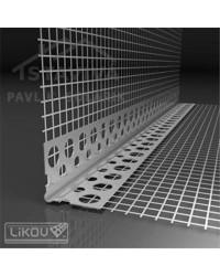 Lišta s mriežkou PVC 10x10 2,5 m VERTEX (LK PVC)