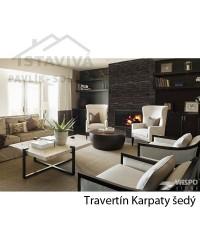 Travertín Karpaty šedý