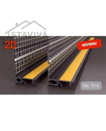 Lišta okenný začisťovací profil 2D 2,6 m (LS2-FLEX)