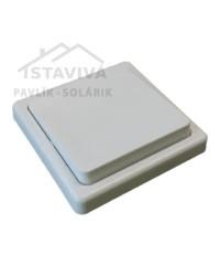 Spínač DS 1101-1 jednopólový biely