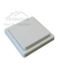 Spínač DS 1101-6 striedavý biely
